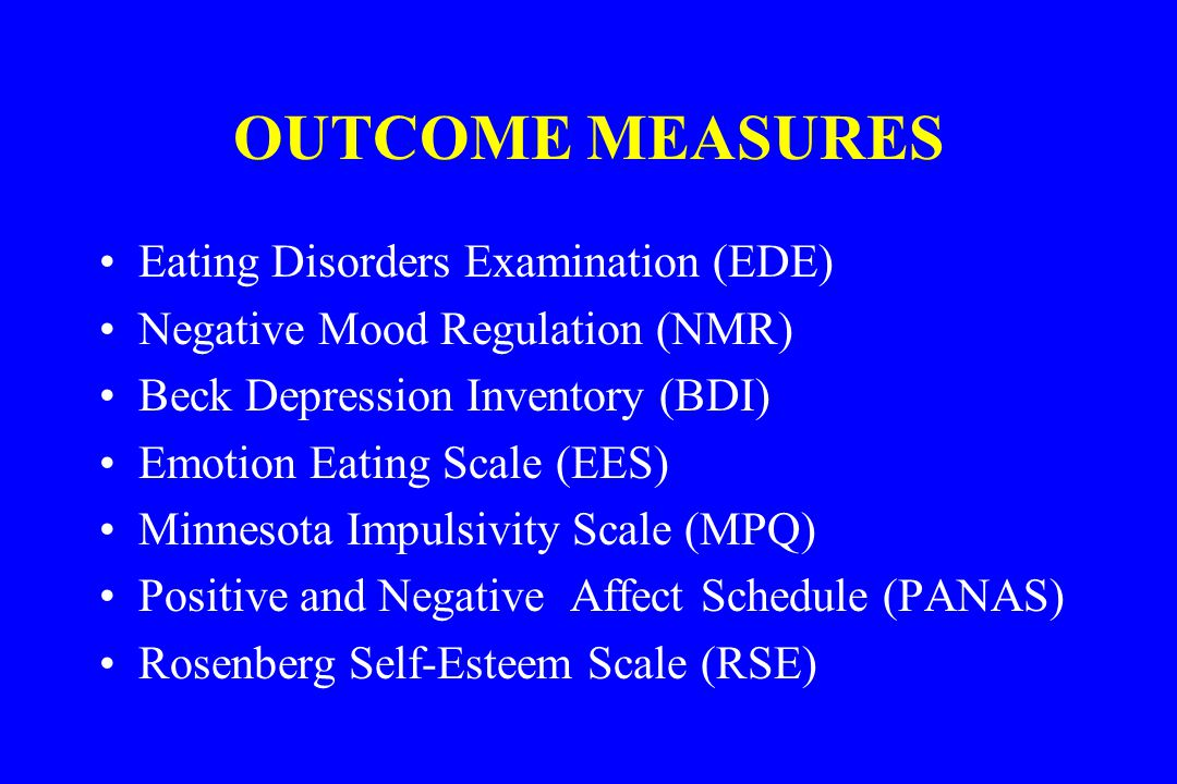 an examination of eating disorder bulimia Nervosa, bulimia nervosa, and binge-eating disorder study 1 used a panel of eating-disorder experts and provided evidence for the content validity of this scale.