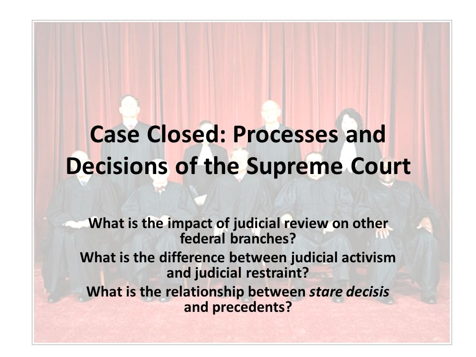 a contrast on the glamorous cases on the us supreme courts What kind of jurisdiction does the us supreme court have, how does a case all of the other courts in the united states must in contrast, the decisions.