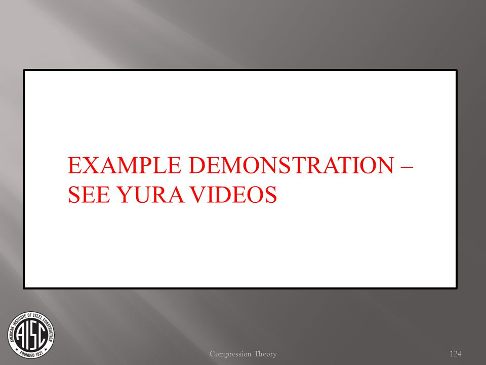 EXAMPLE DEMONSTRATION – SEE YURA VIDEOS