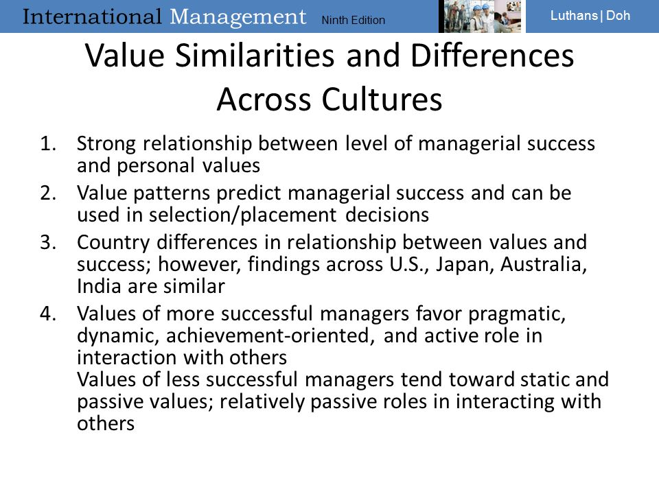 Value Similarities and Differences Across Cultures