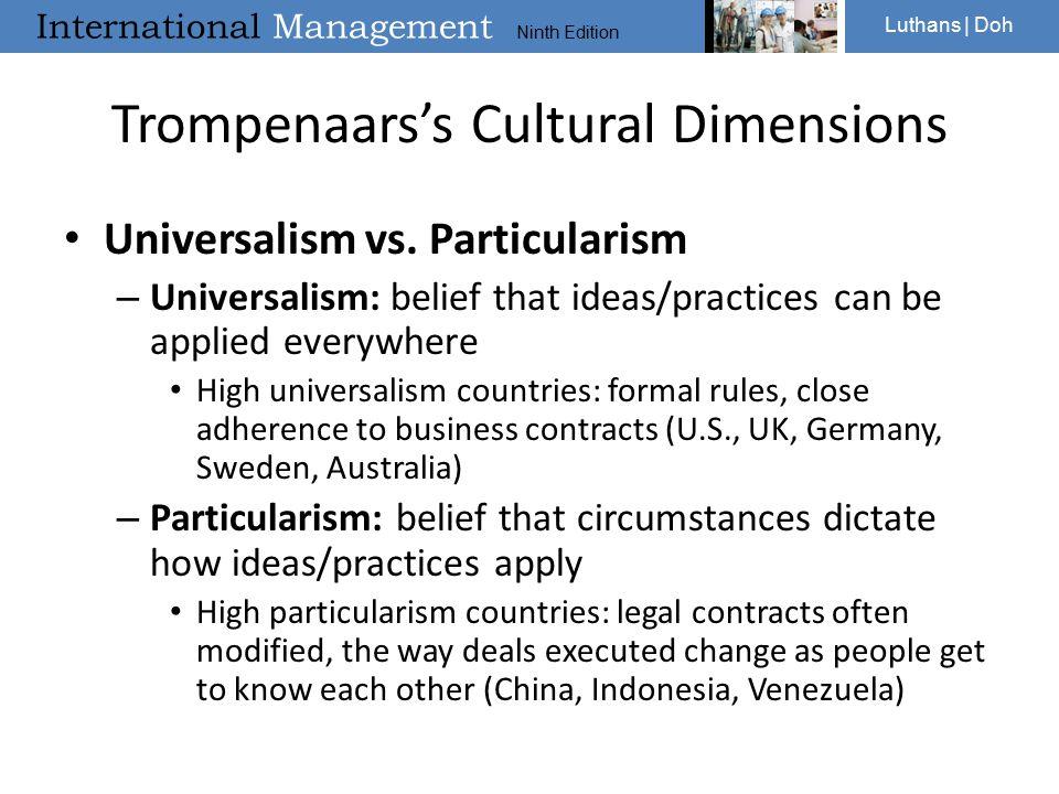 trompenaars cultural dimensions of germany