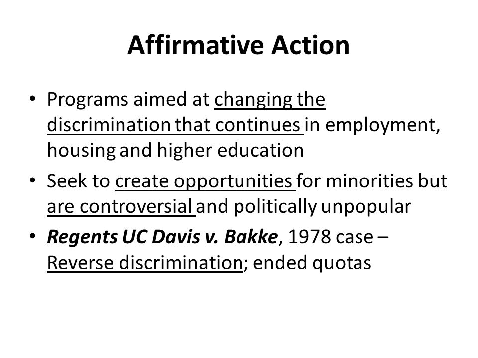 Is affirmative action racist?