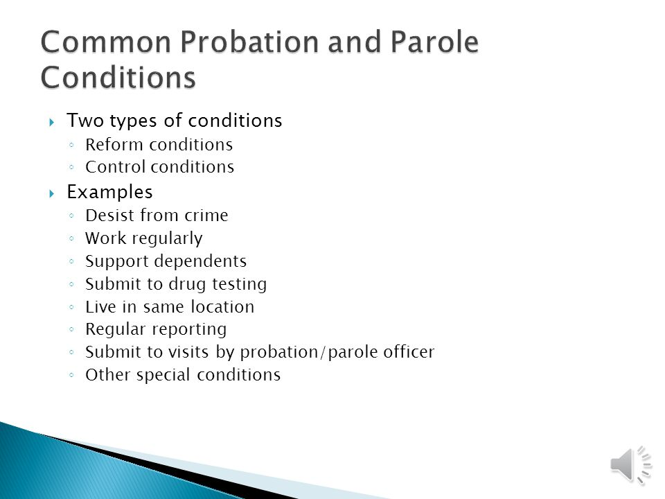 probation and parole in the united History, theory and results of parole, the troduction into the united states england, then as now, called it by the various names of probation-pass.