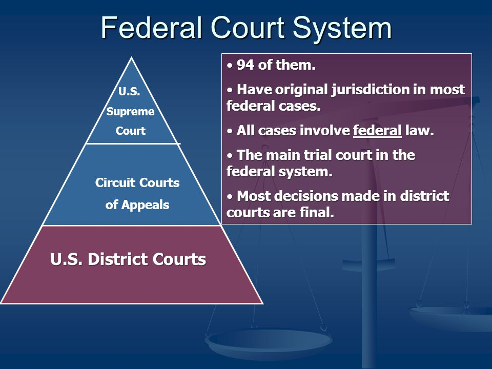 """law a study of the courts Introduction to the federal court system cases that are entirely based on state law may be brought in federal court under the court's """"diversity jurisdiction""""."""