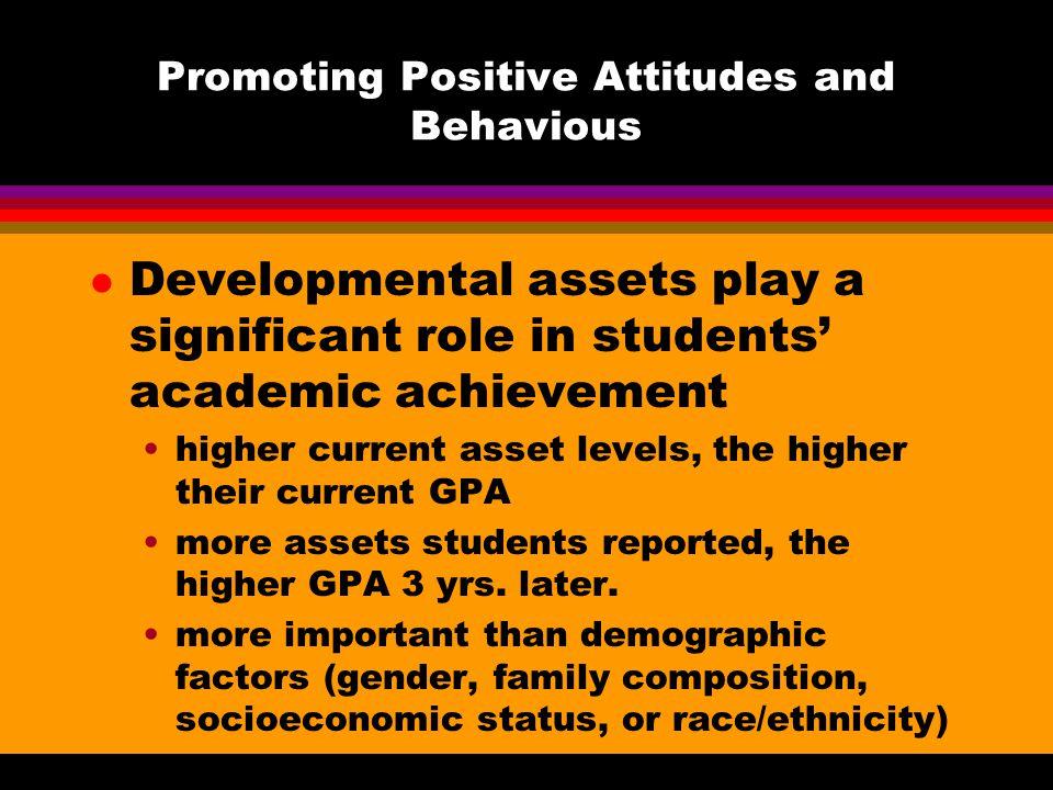 Promoting Positive Attitudes and Behavious