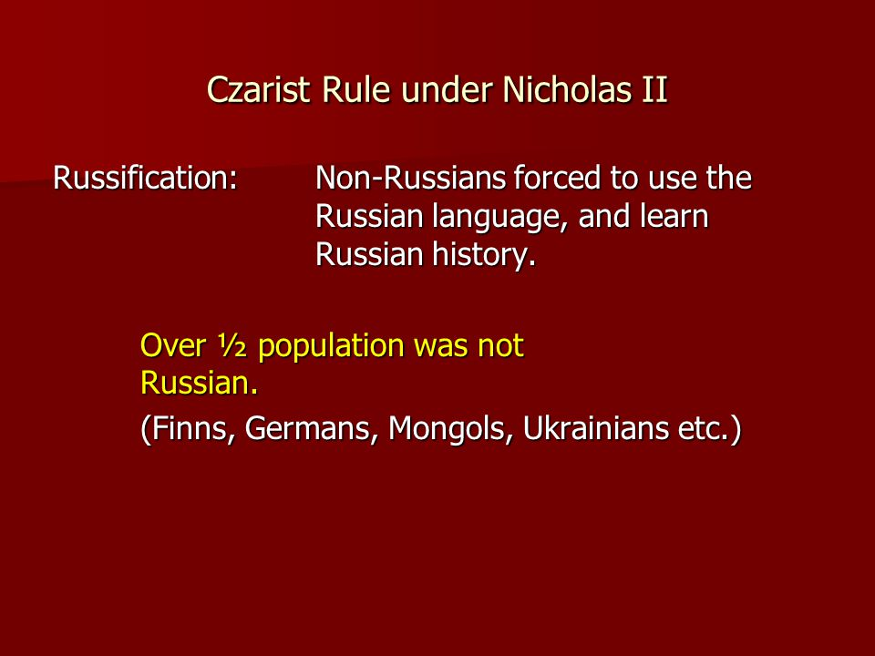 the bloody rule of nicholas ii over russia Nicholas ii of russia has appeared in the critics nicknamed him nicholas the bloody because of the under his rule, russia was defeated in the russo.