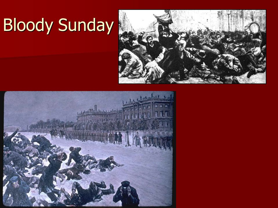 Bloody Sunday Massacre in Russia