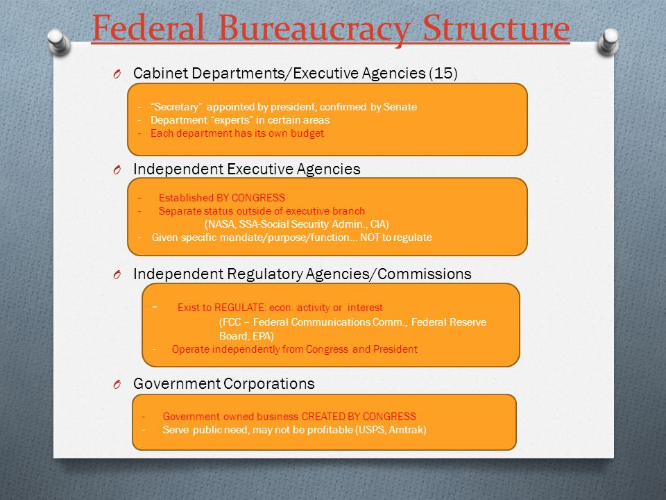 Chapter 15 The Bureaucracy. - ppt video online download