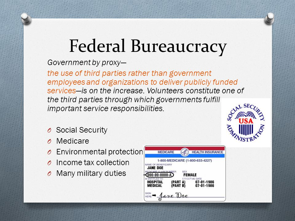 federal bureaucracy and tasks specialization Fred c lunenburg _____5 examples of machine bureaucracy are automobile manufacturers, steel.