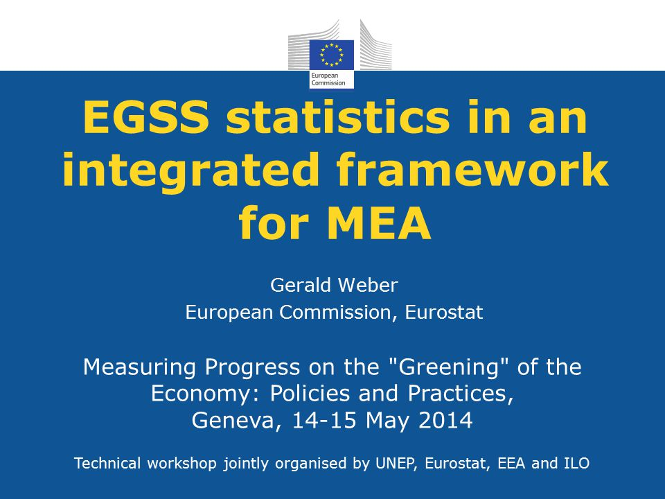EGSS statistics in an integrated framework for MEA