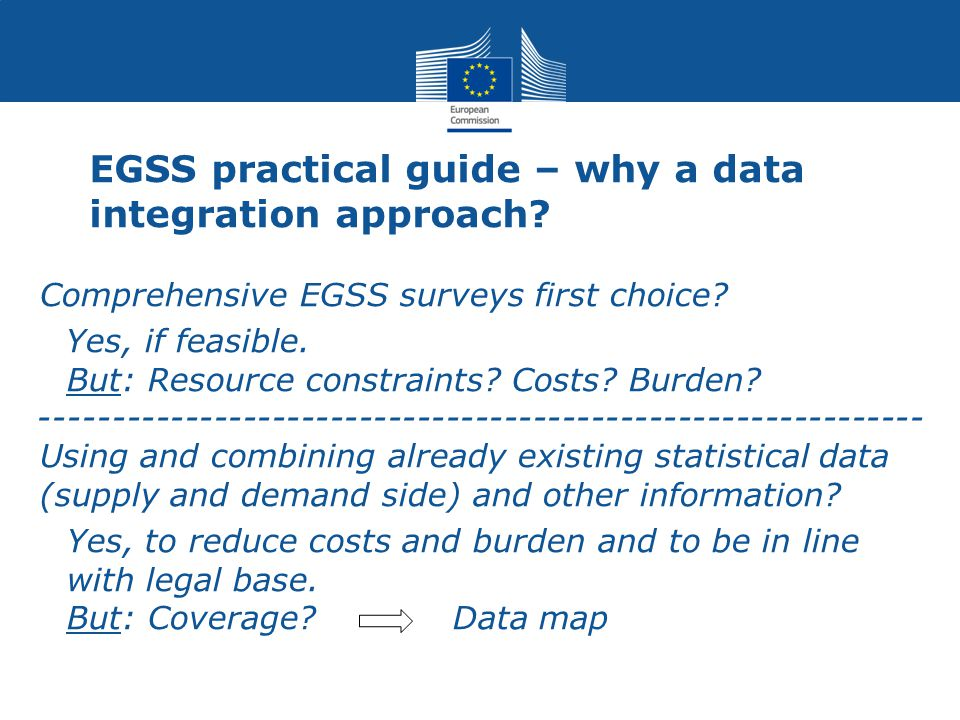 EGSS practical guide – why a data integration approach