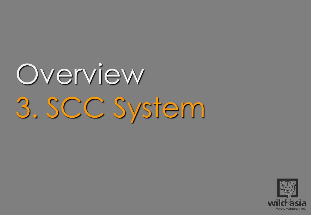 Overview 3. SCC System.