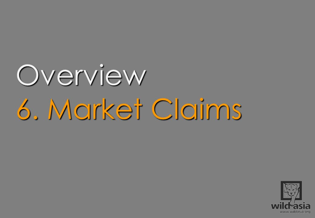 Overview 6. Market Claims