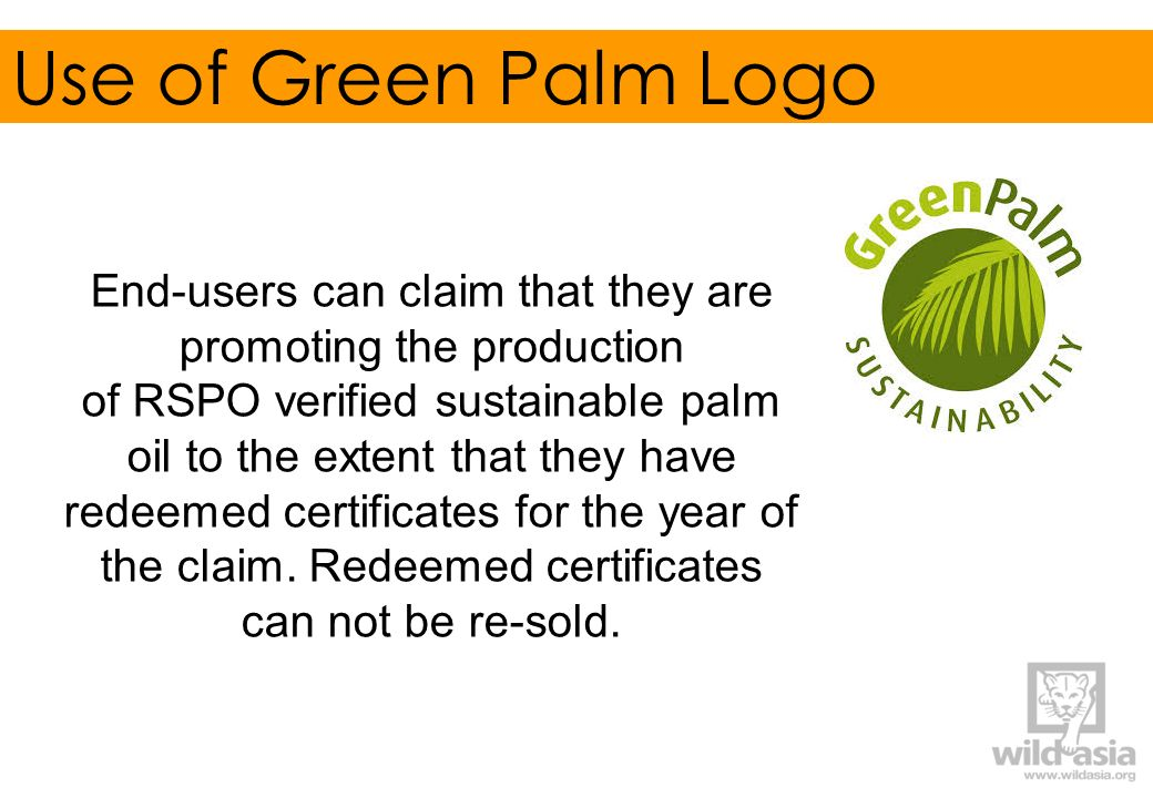 Use of Green Palm Logo