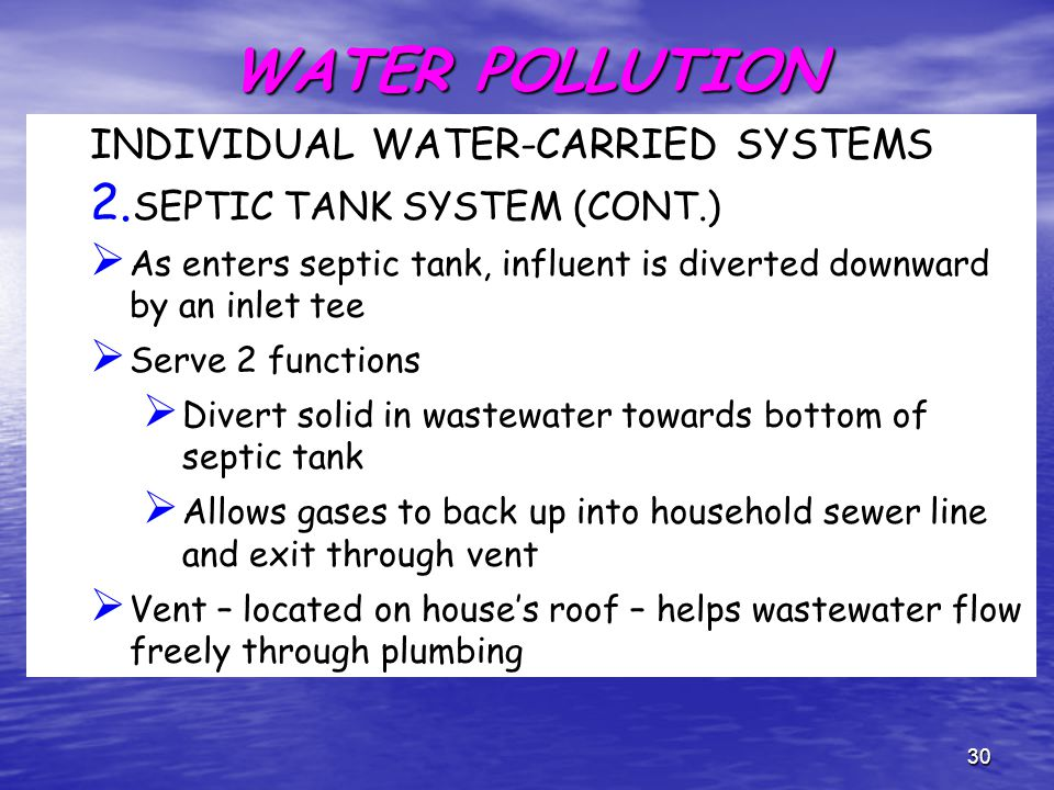 Ech 4102 environmental health engineering ppt download for Sewage backing up into house