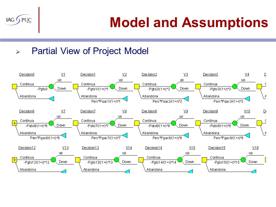 Model and Assumptions Partial View of Project Model