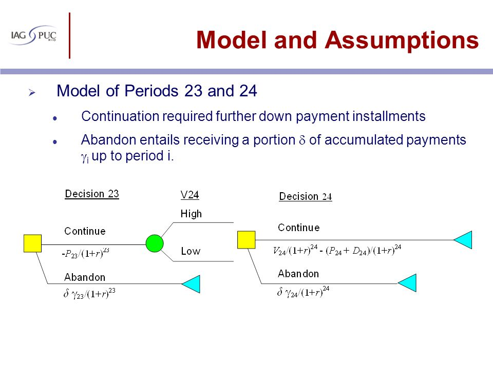 Model and Assumptions Model of Periods 23 and 24