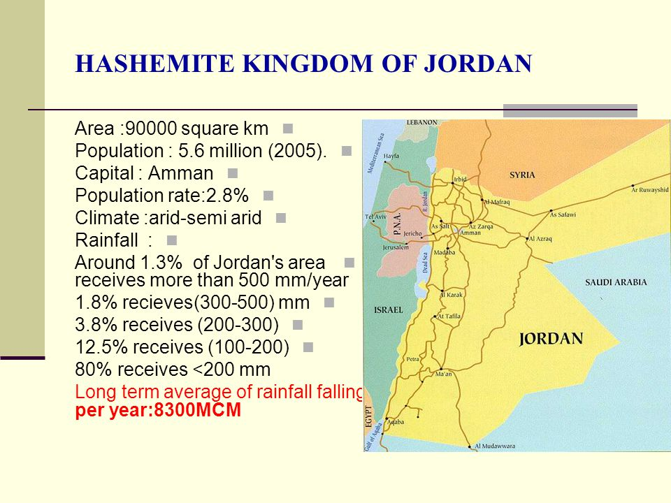 Wastewater Production Treatment And Use In Jordan Ppt