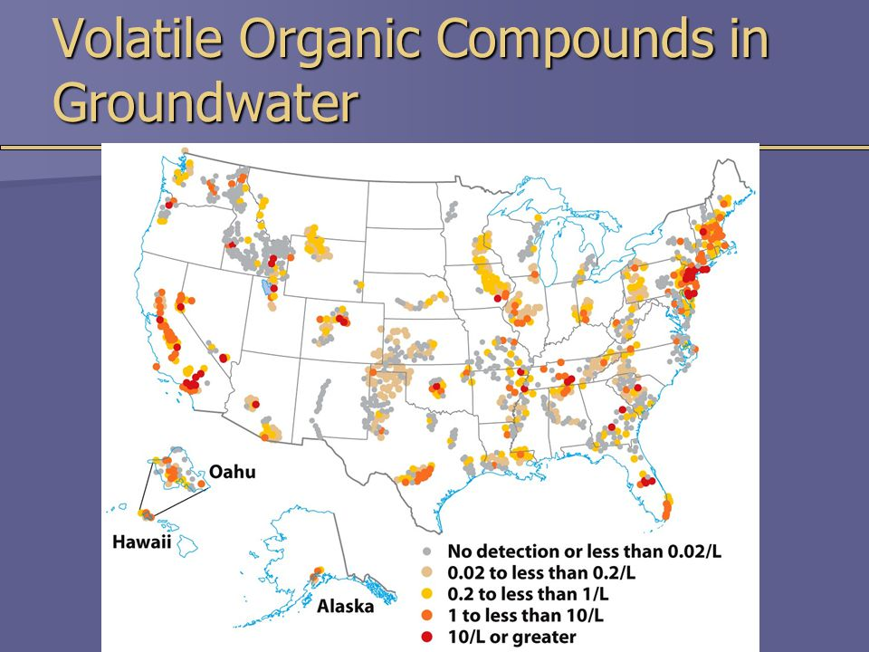 Volatile Organic Compounds in Groundwater