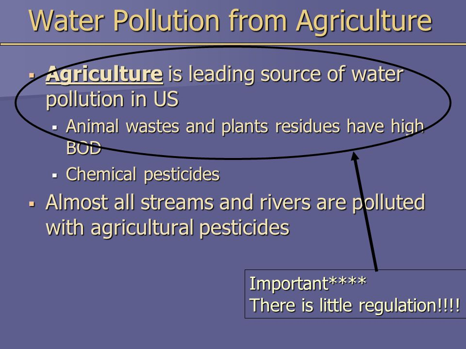 Water Pollution from Agriculture