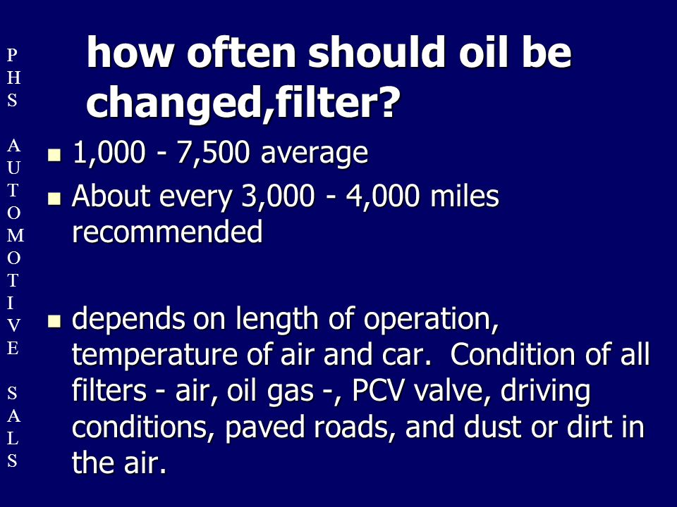 How often do you really need to change motor oil  Yahoo