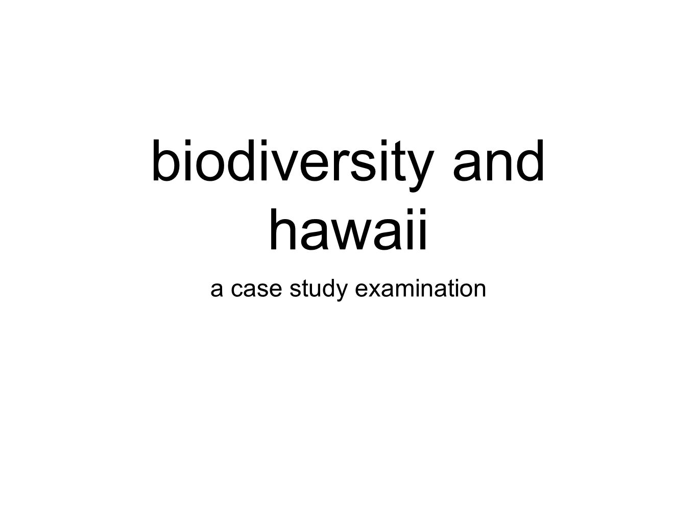 Economic impacts of biodiversity loss: case studies ...