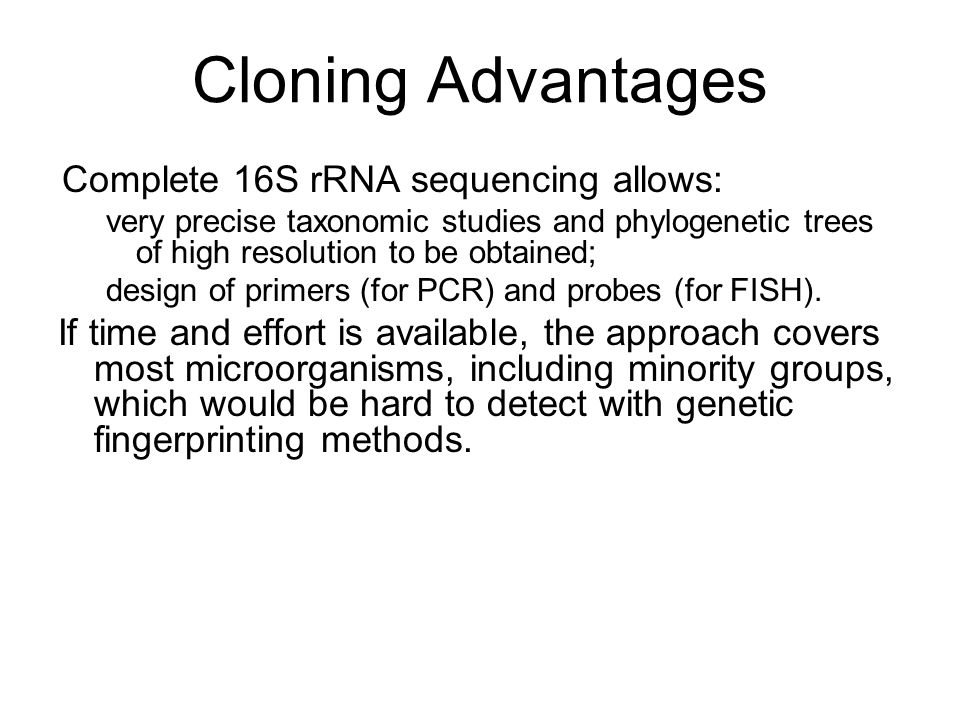 an analysis of the advantages and disadvantages of cloning The advantages and disadvantages of cloning show us that if this science can be managed ethically, there are still societal implications that must be taken into account.