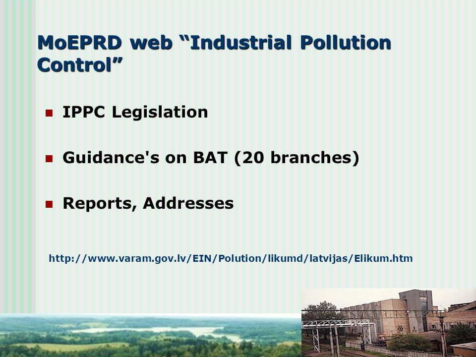 MoEPRD web Industrial Pollution Control
