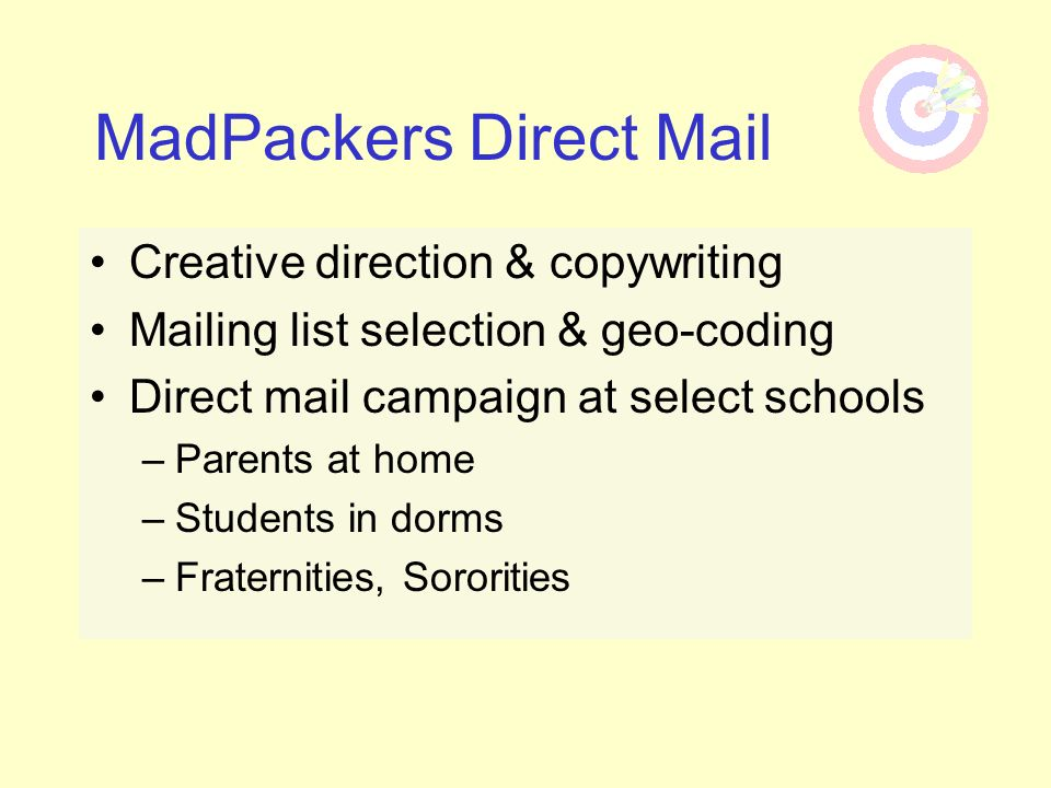 MadPackers Direct Mail