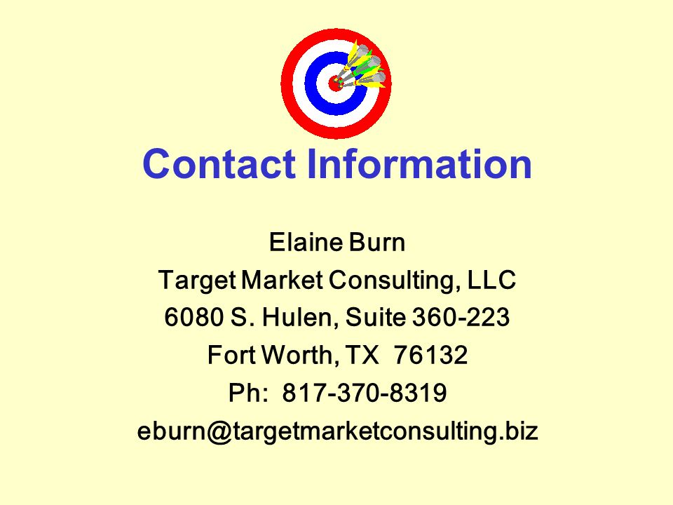 Target Market Consulting, LLC