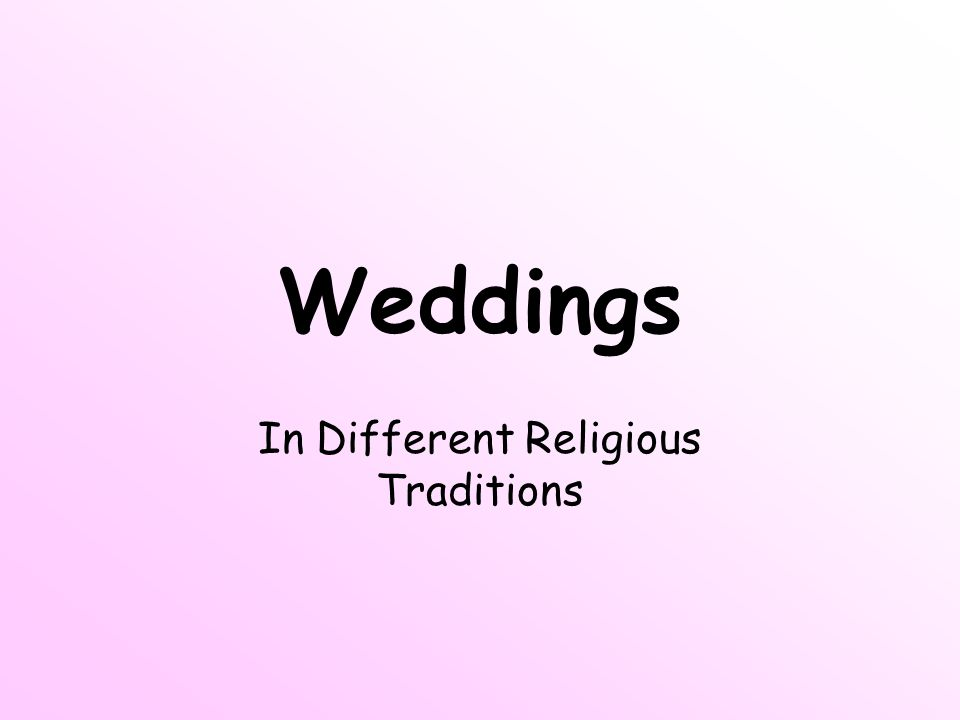 In Different Religious Traditions