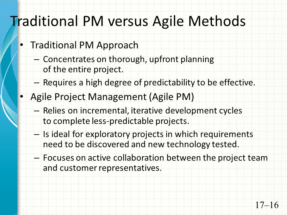 Today s overview review more agile and scrum processes for Agile vs traditional methodologies