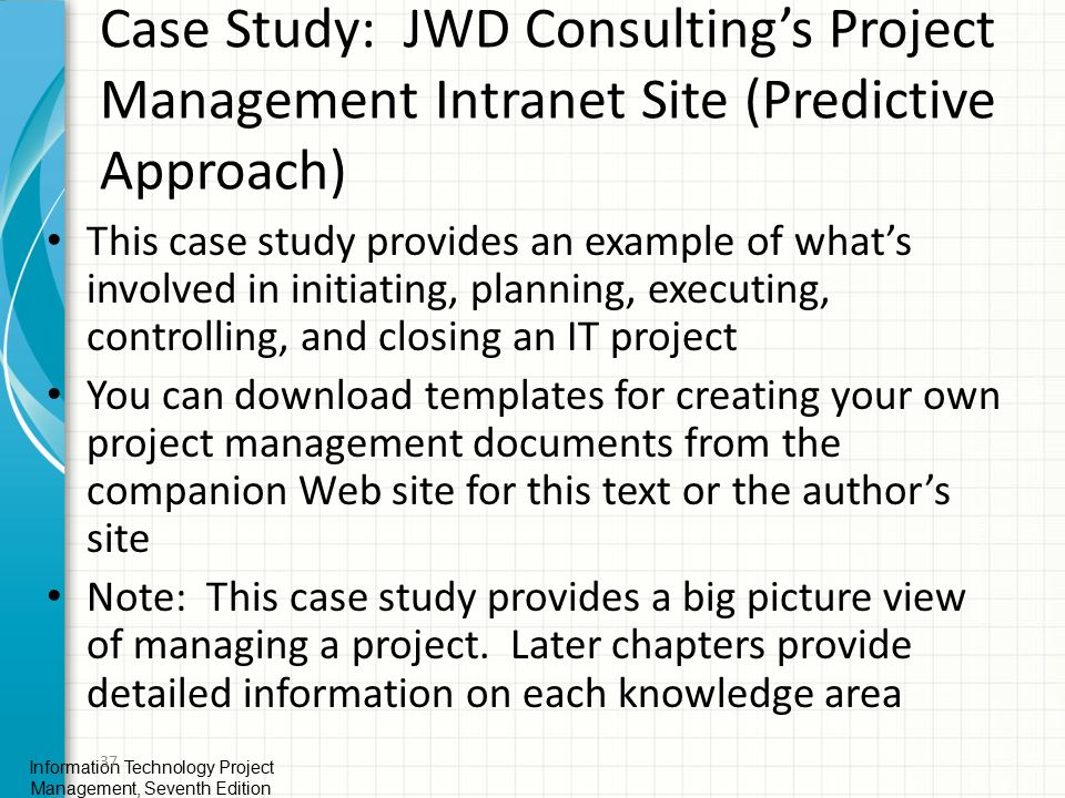 case study for project management chapter1 3