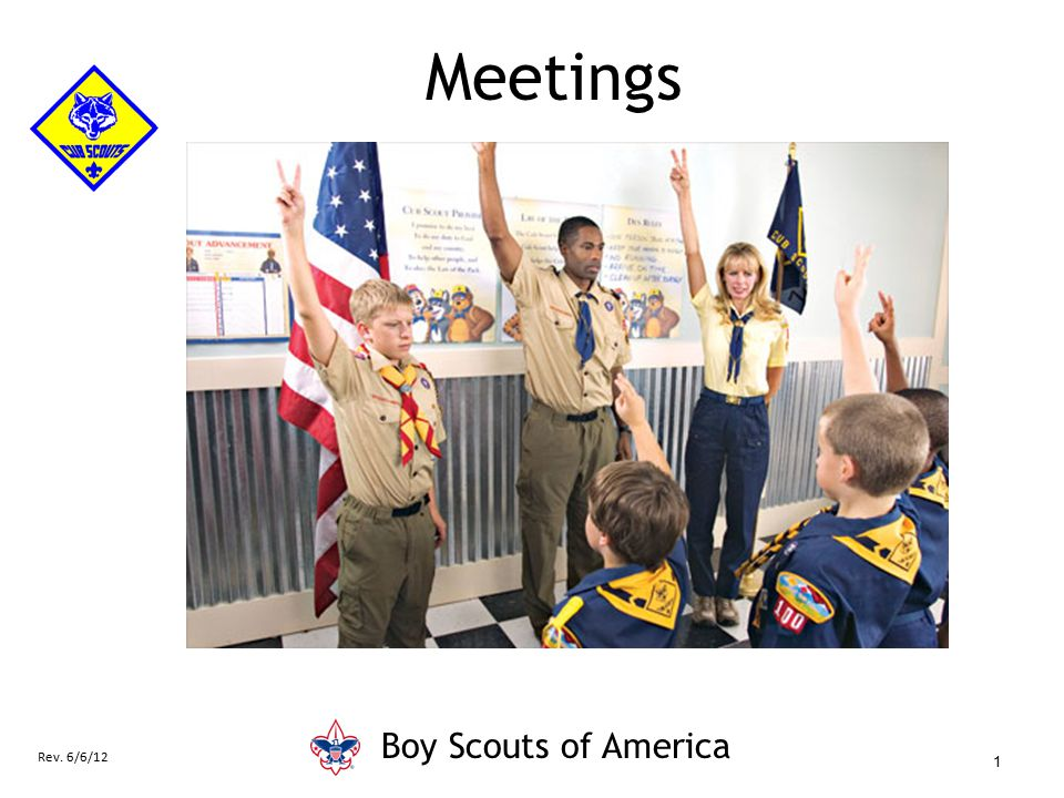 Meetings Boy Scouts of America Say (in your own words):
