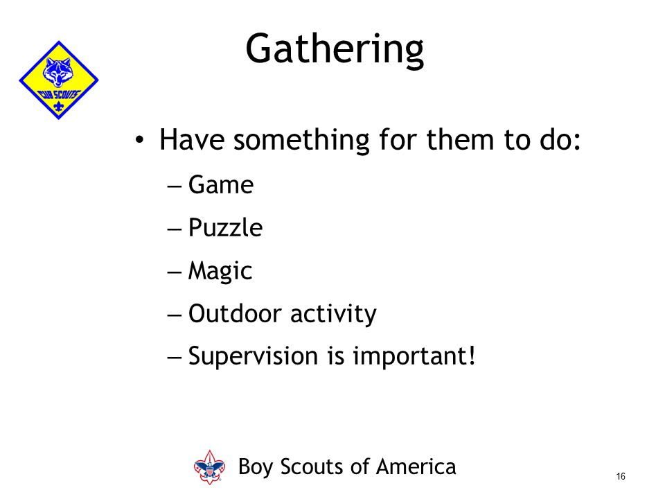 Gathering Have something for them to do: Game Puzzle Magic
