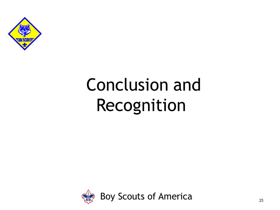 Conclusion and Recognition