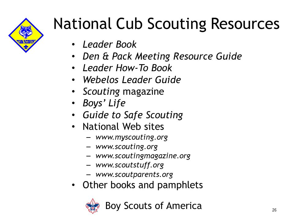 National Cub Scouting Resources
