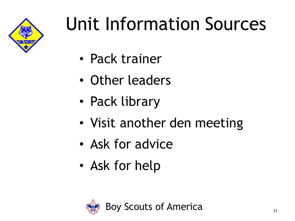 Unit Information Sources