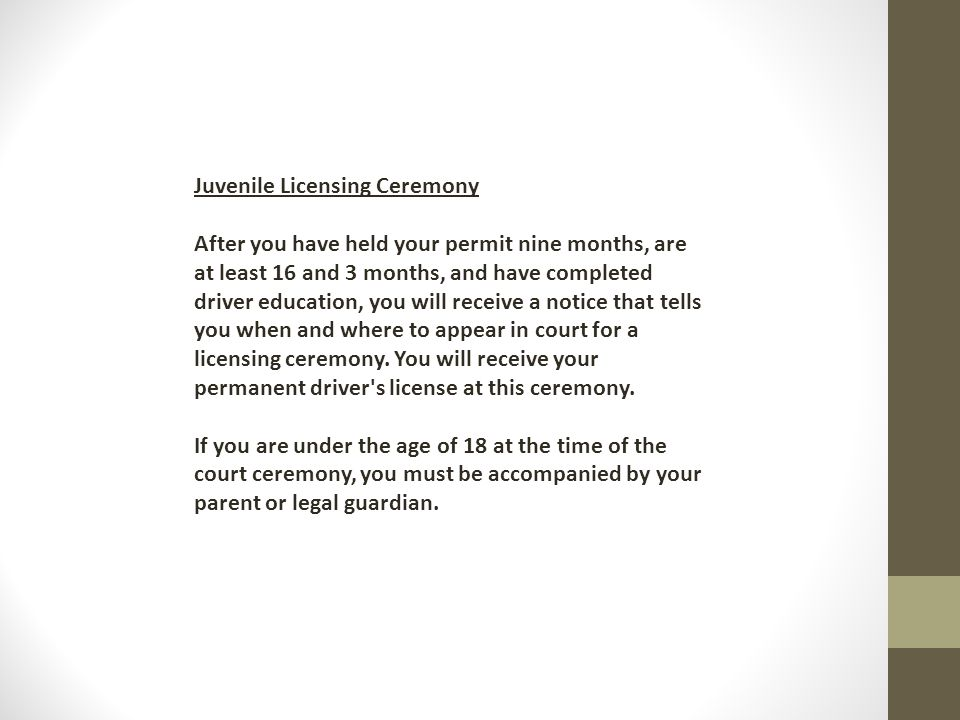 Juvenile Licensing Ceremony