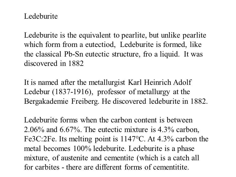 Ledeburite microstructure