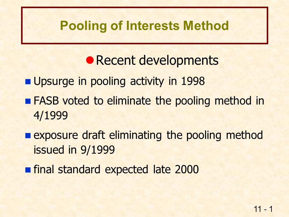 Pooling of Interests Method