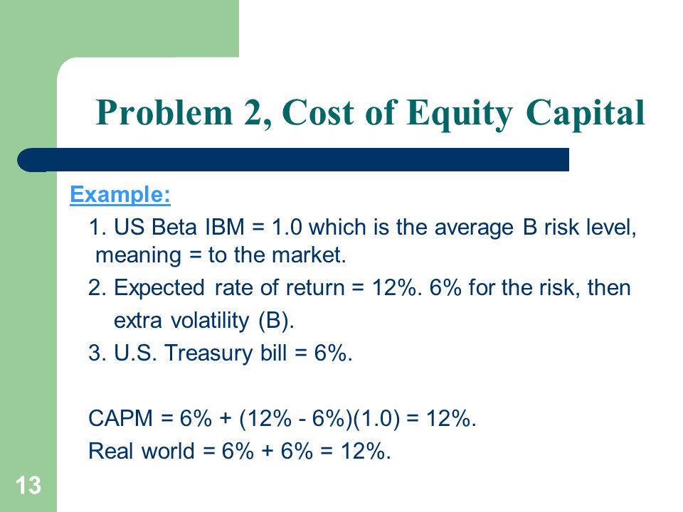midland cost and equity market risk Equity risk premium refers to the excess return that investing in the stock market provides over a risk-free rate.
