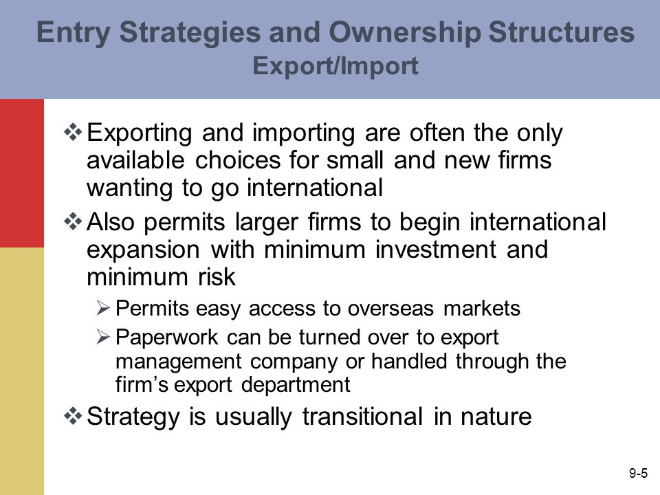 export import strategies Experience wanda gilmore is president of export compliance strategies, llc specializing in consulting services related to the us government's export/import.