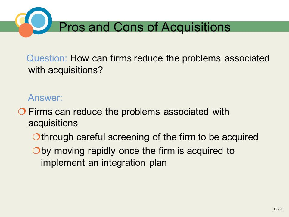 Pros and Cons of Acquisitions