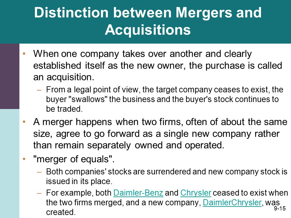 do mergers and acquisitions fulfil desired objective Finc71-614: mergers and acquisitions  the primary objective of this subject is to develop both your analytical and interpersonal skills through the use of .