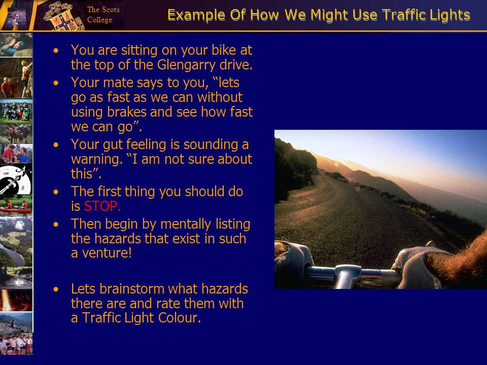 Example Of How We Might Use Traffic Lights