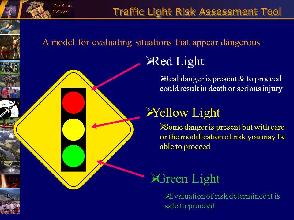 Traffic Light Risk Assessment Tool