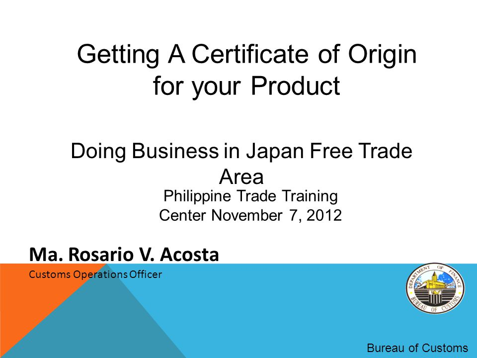 Getting A Certificate Of Origin For Your Product Ppt Video Online