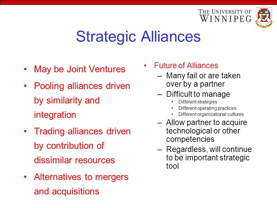 strategic alliances and international mergers and
