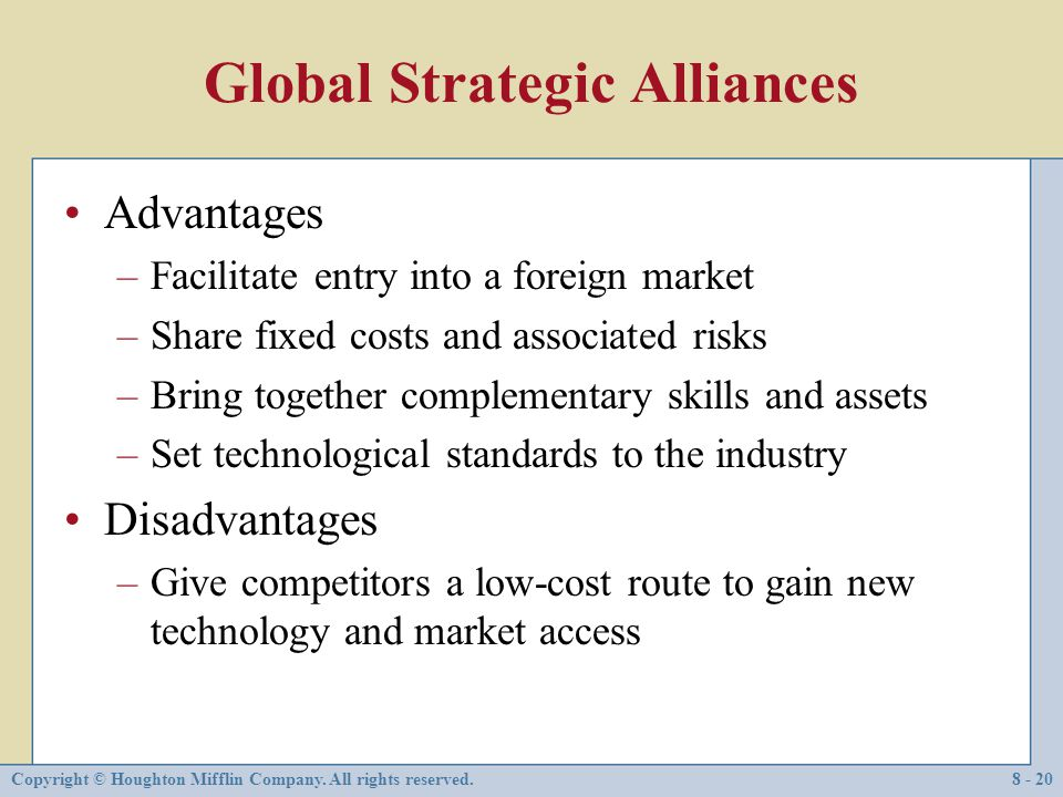 Global Strategic Alliances